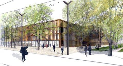 Entwurf des Stadtarchivs mit Kunst- und Museumsbibliothek  Foto: dpa