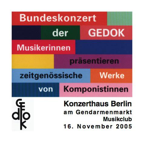 Bundeskonzert der GEDOK 2005