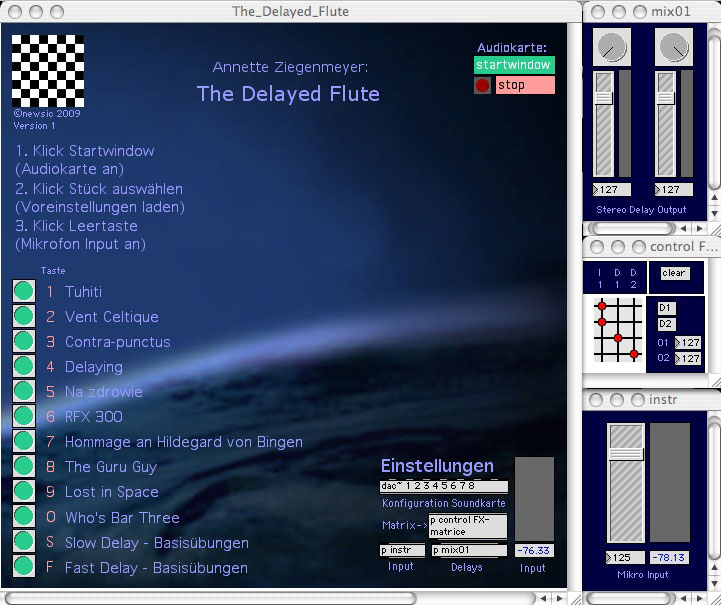 Max/MSP Software The Delayed Flute