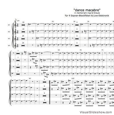 Dorothee Hahne: dance macabre - Noten für  4 Blockflöten & Live-Elektronik